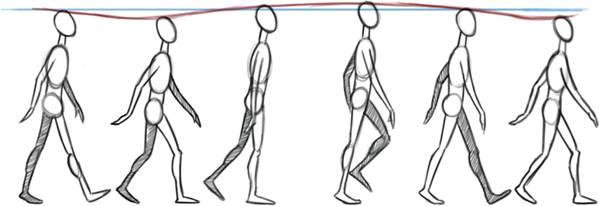 Понедельник начало, картинки для анимации ходьбы человека