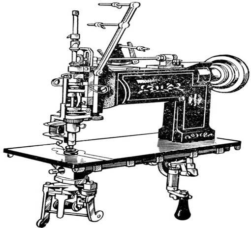 Описание: Рис. 1. Вышивальная машина ВМ-50