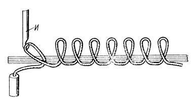 Описание: Рис. 22. Ковровый шов 'барашек'