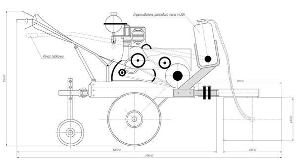 Описание: D:\Работа\IQ\проекты\междурядная обработка\с мотоблоком Нева МБ-2КМ\Чертеж 2 картина - копия.jpg