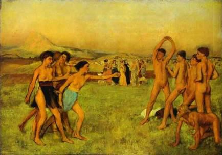 Юные спартанцы, 1861. Эдгар Дега - Edgar Degas (1834-1917)