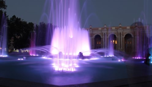 The musical fountain near Navoi Theatre