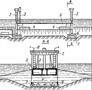 Схема опускания тоннельных секций