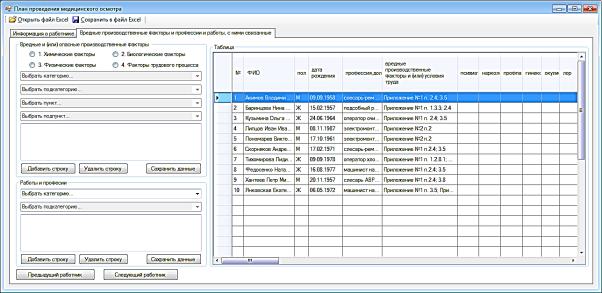 Таблица в экселе для медицинских книжек работа по патенту модификация программ для эвм
