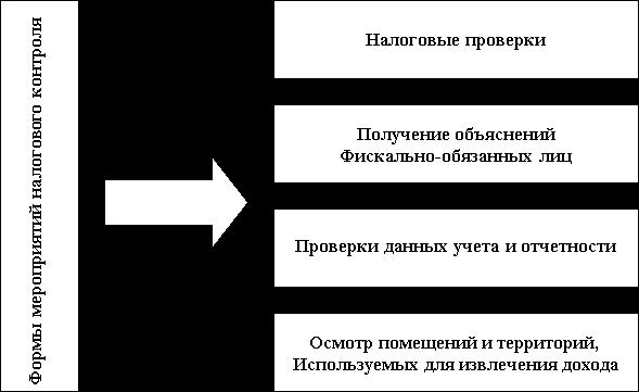 В процессе осуществления указанных форм налогового контроля, в частности, производятся