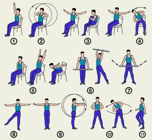 комплекс упражнений при всд