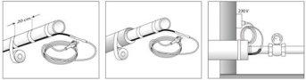 Принцип установки кабеля снаружи трубы