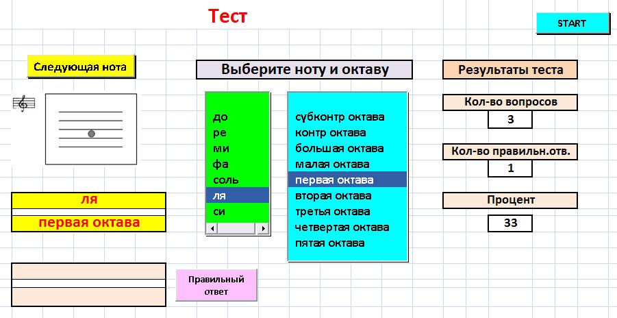 Программа для изучения нотной грамоты