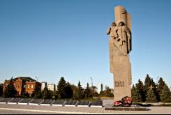 Описание: Памятник, посвященный жертвам Гражданской и Отечественной войн