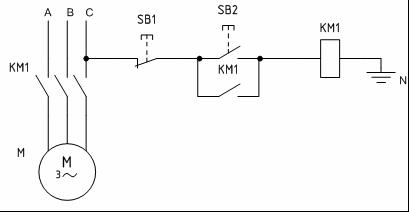 Схема управления двигателем с помощью магнитного пускателя