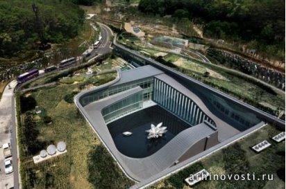Крематорий Memorial Park от Haeahn Architecture. Сеул, Южная Корея.
