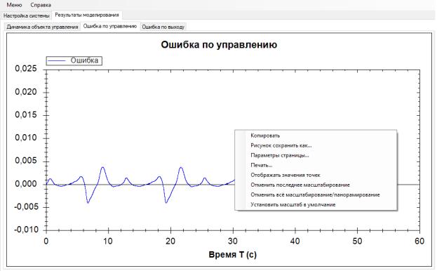 Результаты работы интерфейса.