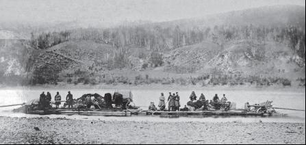 Сплав переселенцев по реке Амур в 1859 году