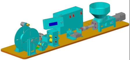 Устройство в сборе для изготовления пластиковой нити для печати на 3D принтере (FDM)