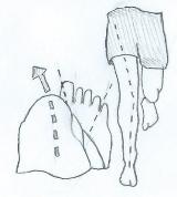 Ошибки в положении стопы и коленного сустава при беге