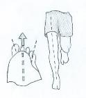 Правильное положение коленного сустава и стопы при беге