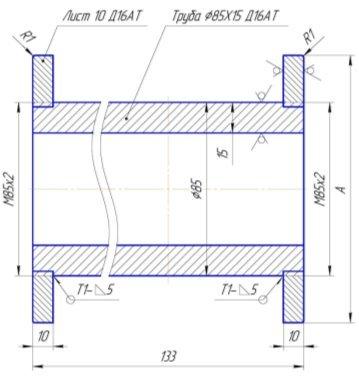 Металлический шаблон для обсадных колонн
