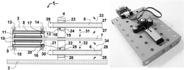 Блок-схема (слева) и макет для исследований ЯЭГ