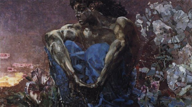 """М. А. Врубель. """"Демон"""" (1890)"""
