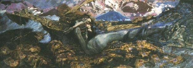 """М. А. Врубель. """"Демон поверженный"""" (1902)"""