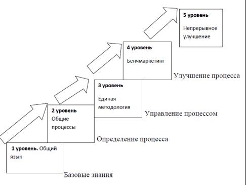 Пять уровней зрелости модели Г. Керцнера [2]
