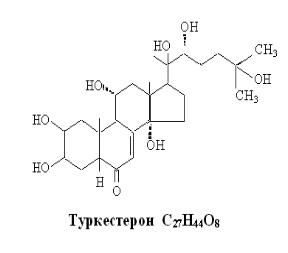 Структурные формулы фитоэкдистероидов