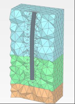 Расчетная модель в ПК PLAXIS 2D