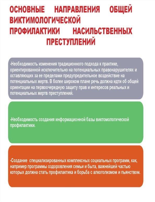 Основные направления профилактики