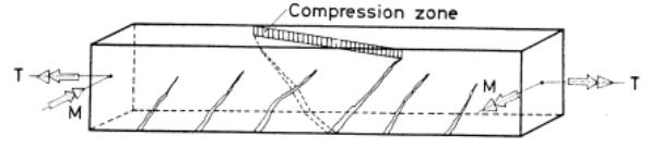 Пространственная трещина в балке [8, с. 57]