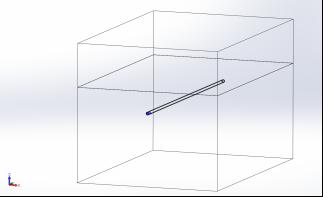 Выполненная в SolidWorks 3-D модель трубопровода в грунте