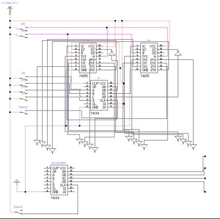 Принципиальная схема управляющего модуля АЛУ