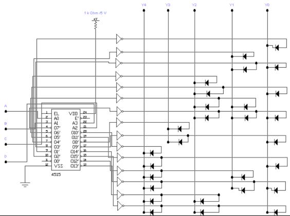 Принципиальная схема десятичного корректора
