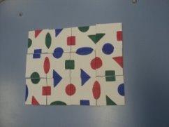 Дидактическая игра «Геометрический коврик»