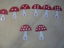 Дидактическая игра «Собери грибочек»