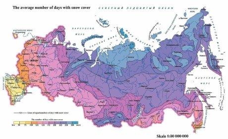 Карта вечной мерзлоты в России (65 % территории)