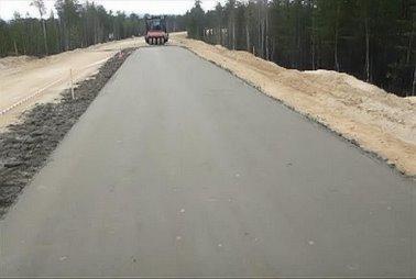 Строительство дорожного покрытия из армированного грунта на нефтепромысловой дороге в Мурманской области К-В-ПП «Лотта