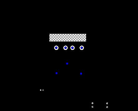 Схема лабораторной электрофлотационной установки периодического действия: 1 — стакан с модельным раствором, 2 –колонна электрофлотатора, 3 — электродный блок; 4 — вентиляция