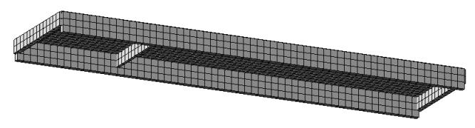 Плита перекрытия ПКЖ1 без 2-х поперечных ребер в ПК Лира САПР