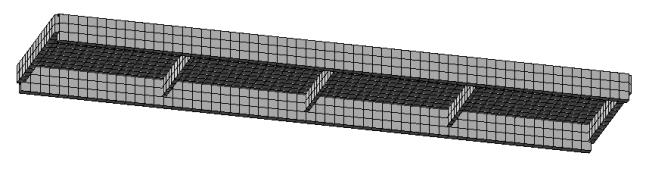 Плита перекрытия ПКЖ1 (типовой проект) в ПК Лира САПР