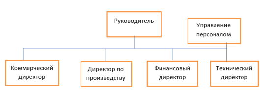 Схема организационной структуры подчинения руководителю