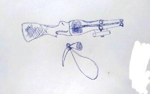 Ружьё и рог