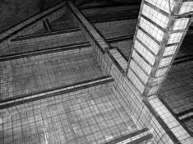 Внешнее металлическое армирование восстанавливаемого промышленного здания