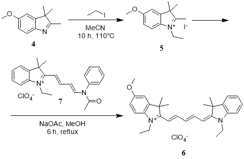 Схема синтеза цианинового красителя