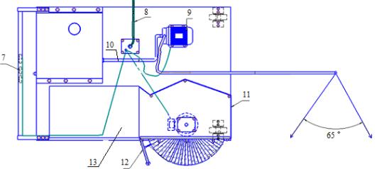 Принципиальная конструктивно-технологическая схема конструкции для мойки и очистки автомобилей от объёмных загрязнений