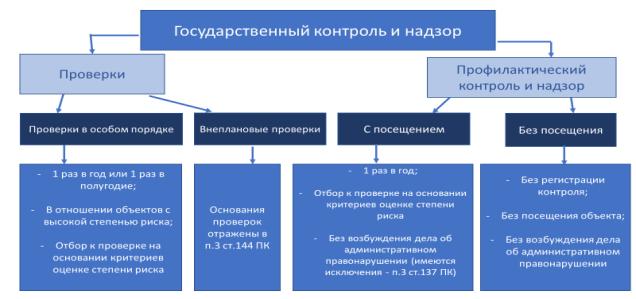 Виды государственного контроля и надзора