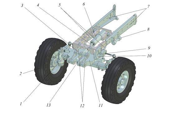 Механизм изменения базы трактора