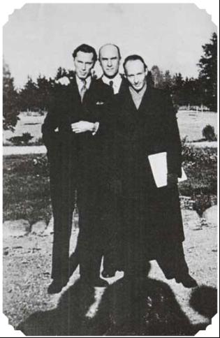 А. Пануфник, Я. Ивашкевич, В. Лютославский (1942 год)