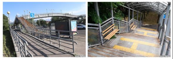 Примеры надземных переходов в городе Алматы