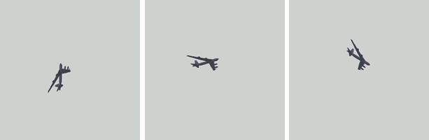 Изображения набора A2 100 с углами поворота –72, 0 и +48 градусов