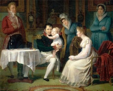 C:\Users\евросеть1\Desktop\Наука\дети монархи\Наполеон II\Наполеон I, Maрия-Луиза и римcкий король александр менжод.jpg
